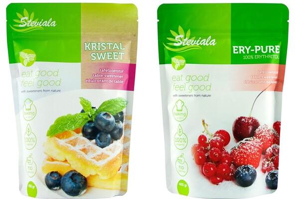 Verschil Steviala Kristal Sweet en Ery-Pure