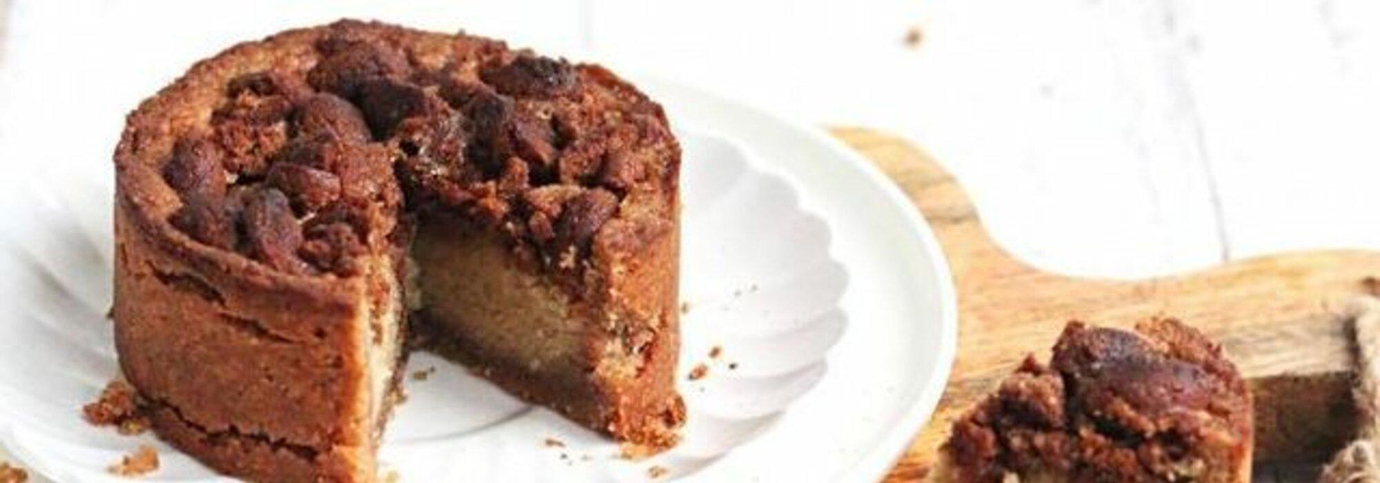 Koolhydraatarm kruidnoten crumble taartje