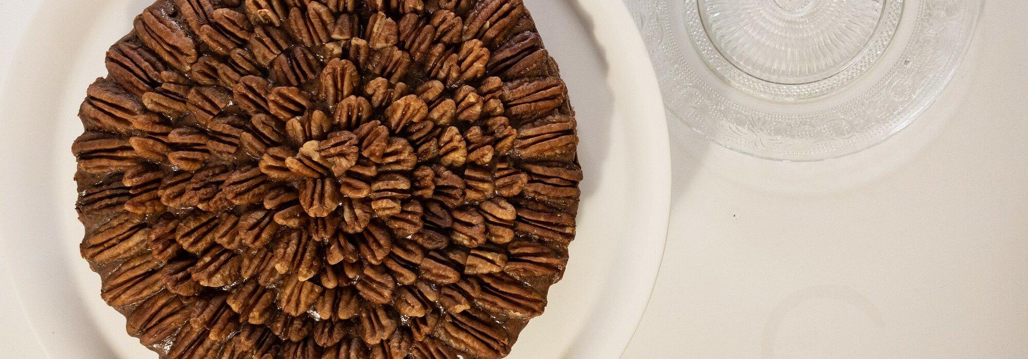 Suikervrije chocolade pecan pie