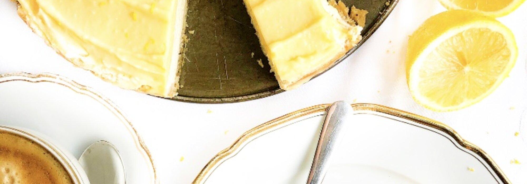 Koolhydraatarme Lemon Curd Cheesecake