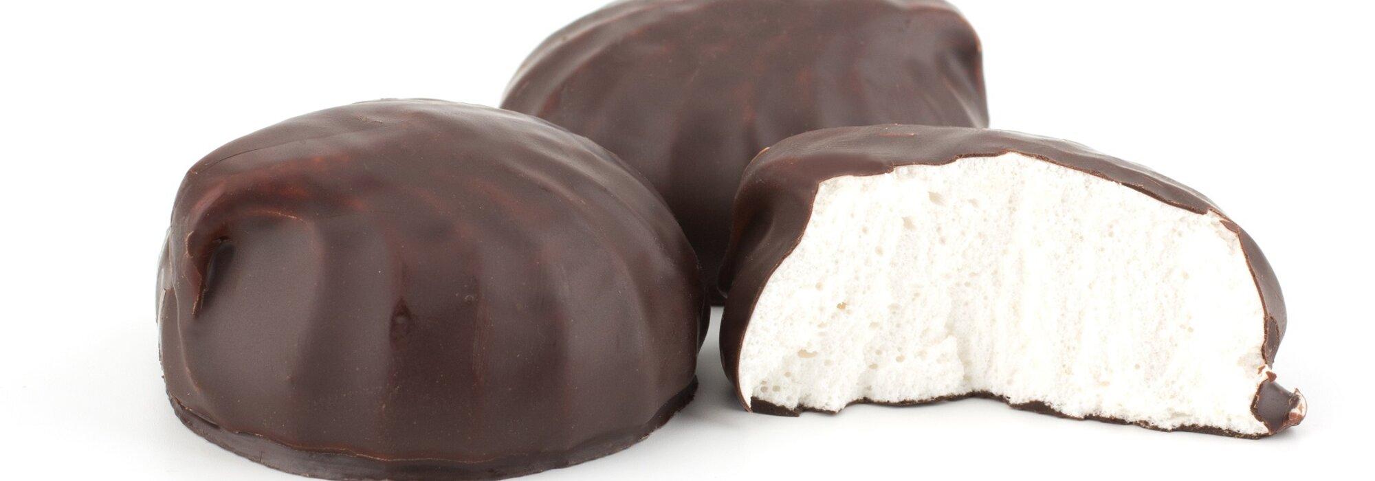 Koolhydraatarme en suikervrije marshmallows met chocolade