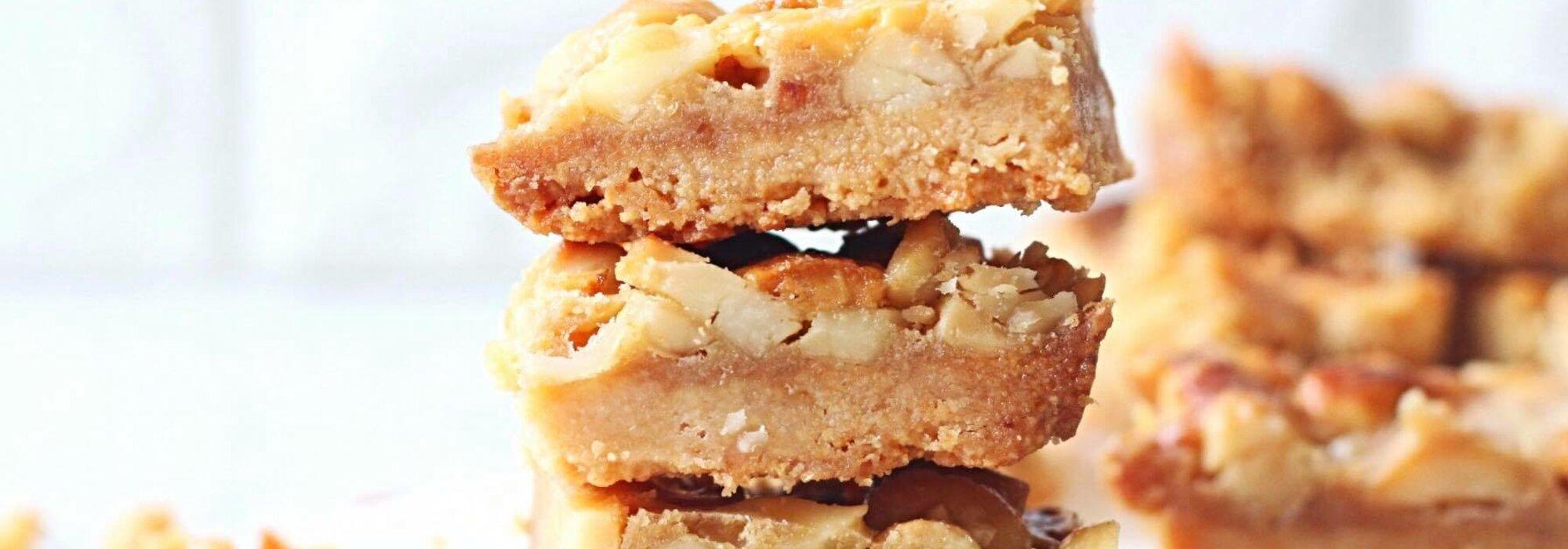 Suikervrije witte chocolade macadamia koeken