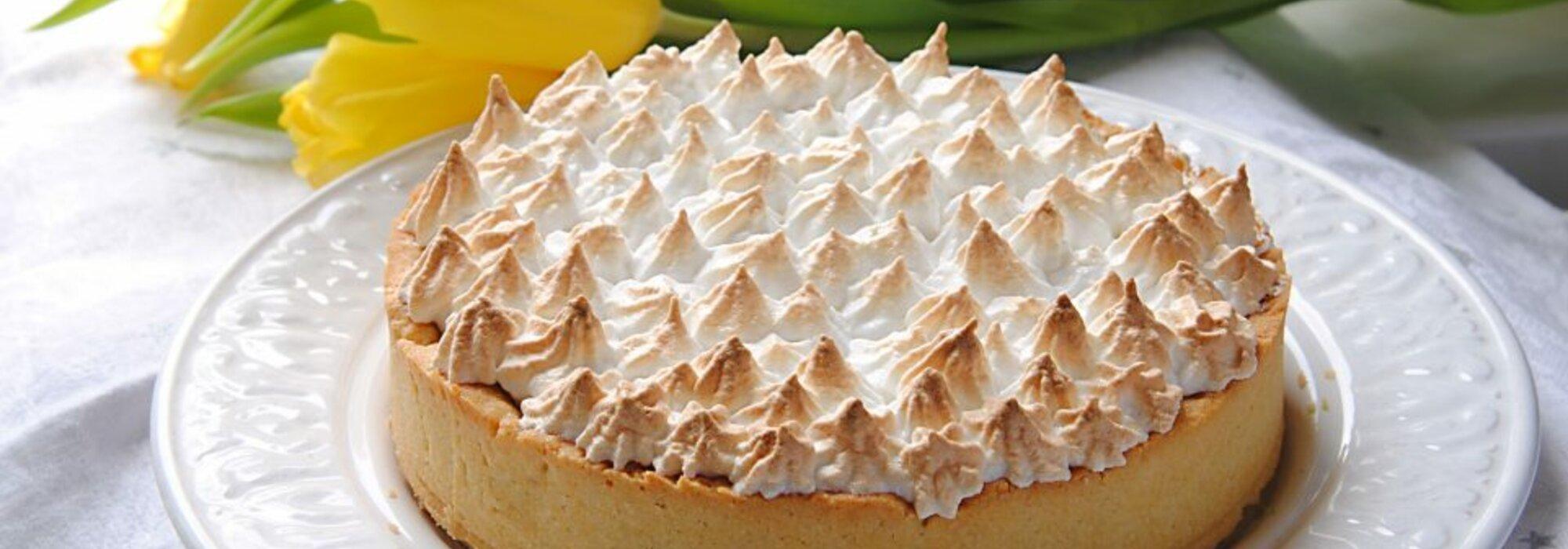 Koolhydraatarme citroen meringue taart