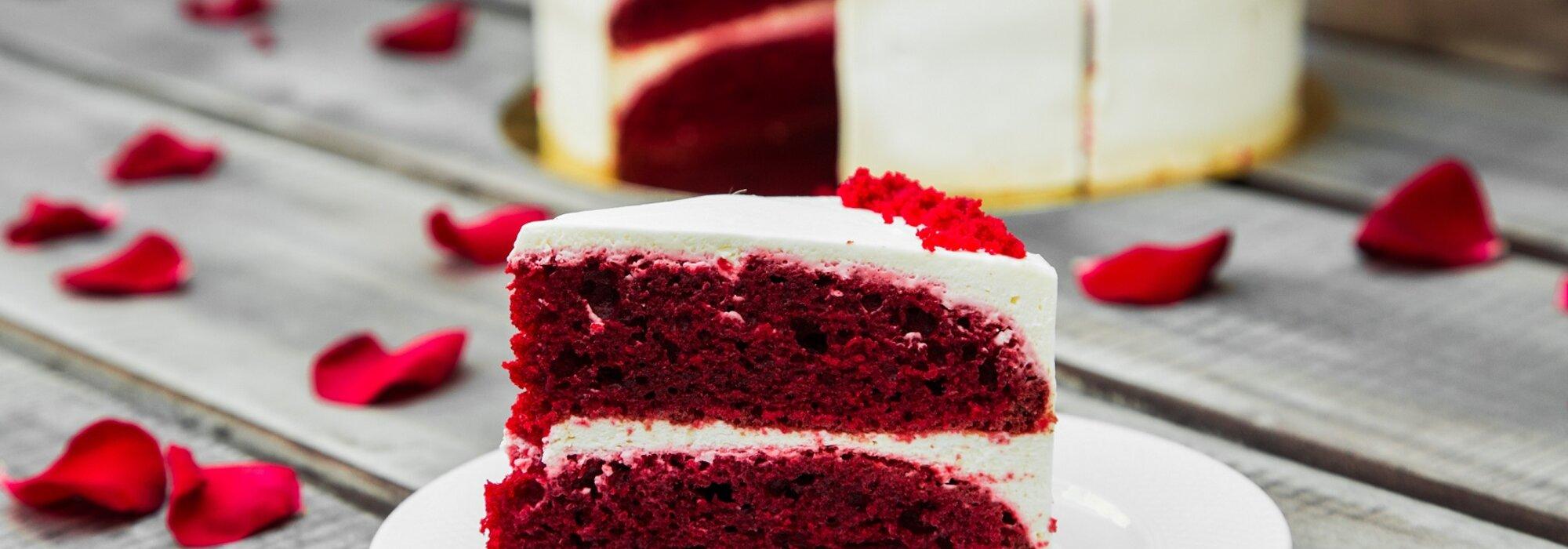Koolhydraatarme en suikervrije Red Velvet Cake