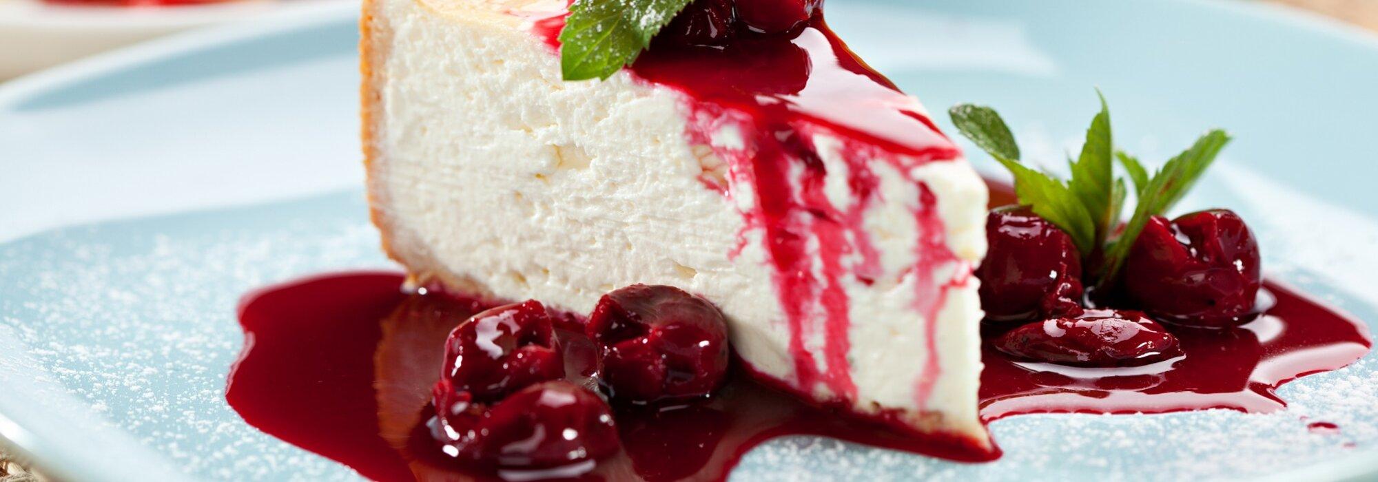 Koolhydraatarme cheesecake met rood fruit