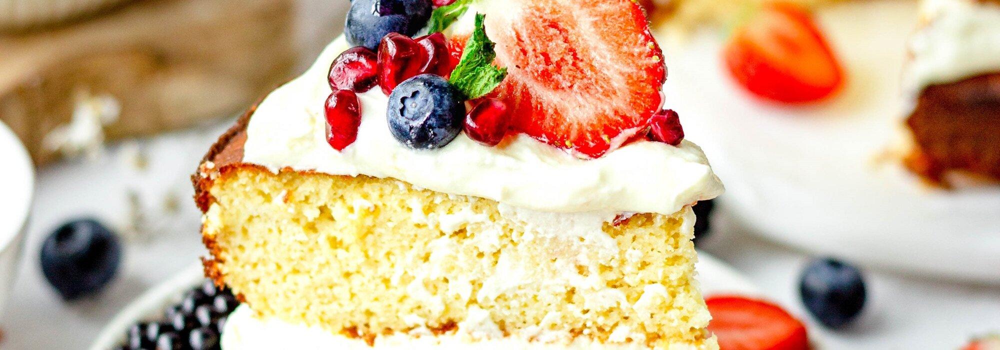 Glutenvrije en koolhydraatarme vanille cake