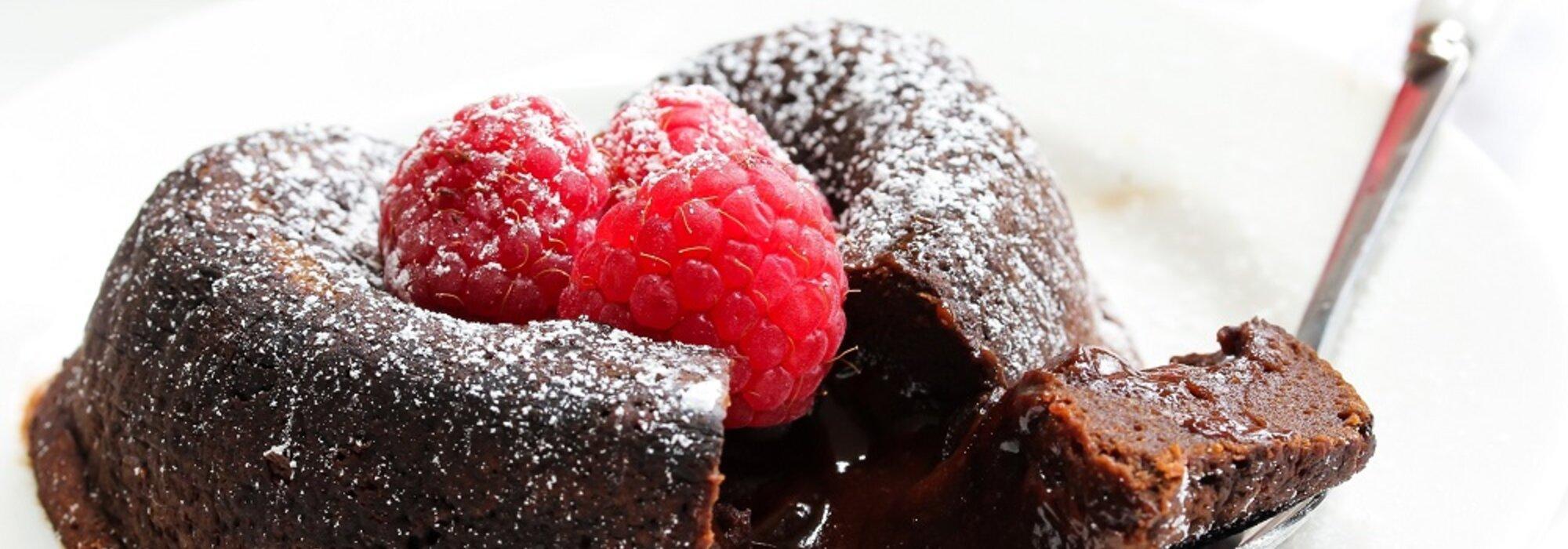 Koolhydraatarme en suikervrije Lava cake