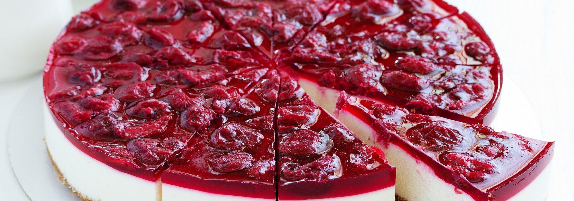 Koolhydraatbeperkte kersen Monchou taart
