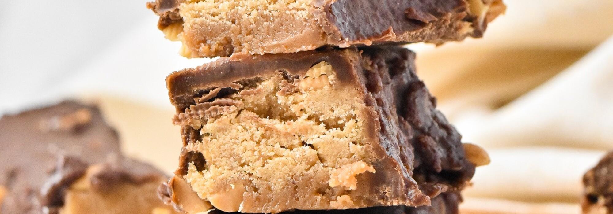 Koolhydraatarme en suikervrije snickers