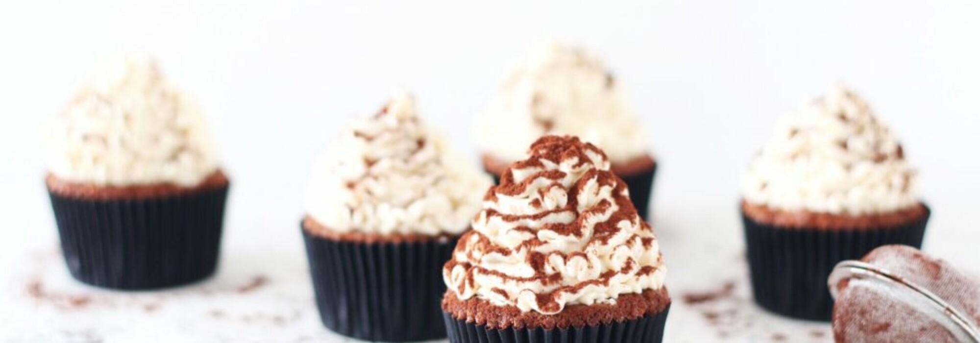 Koolhydraatarme tiramisu cupcakes