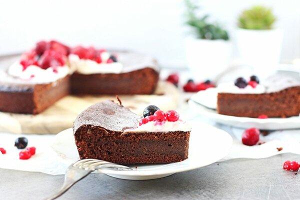 Koolhydraatbeperkte chocolade cake