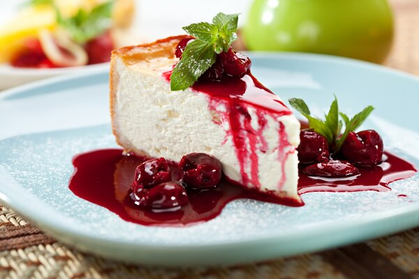 Koolhydraatarme cheesecake met rood fruit