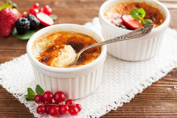 Koolhydraatarme Crème Brûlée suikervrij