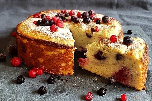 Koolhydraatarme en suikervrije Ricotta taart