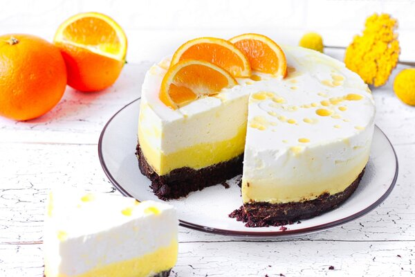 Suikervrije sinaasappel MonChou taart