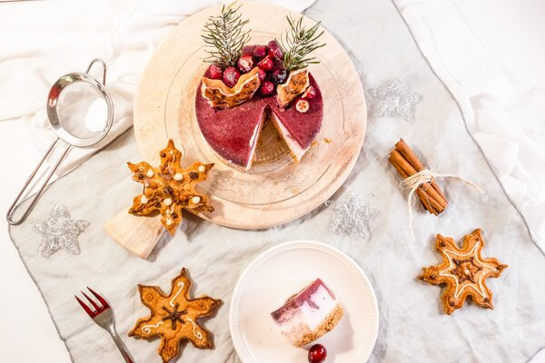Suikervrije Kerst cheesecake