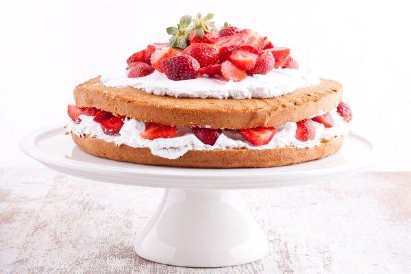 Suikervrije Victoria Sponge Cake