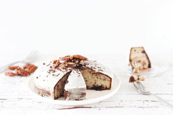 Koolhydraatarme pecannoten cake