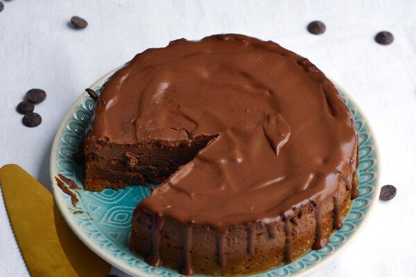 Suikervrije chocolade cheesecake