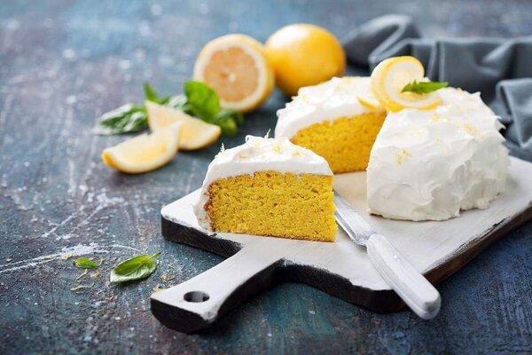 Koolhydraatarme citroen cake