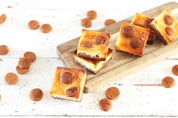 Koolhydraatarme pepernoten cheesecake bites