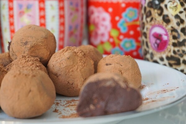 Suikervrije chocolade truffels