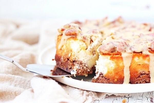 Koolhydraatarme pecannoten cheesecake